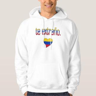 Te Extraño! Venezuela Flag Colors Hoodie