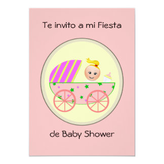 Te invito a mi fiesta de baby shower card