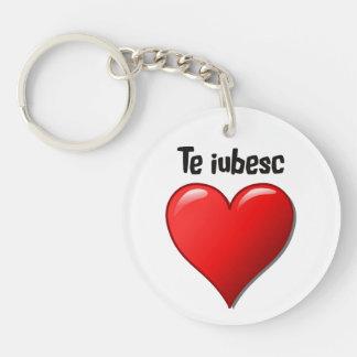Te iubesc - I love you in Romanian Acrylic Keychains