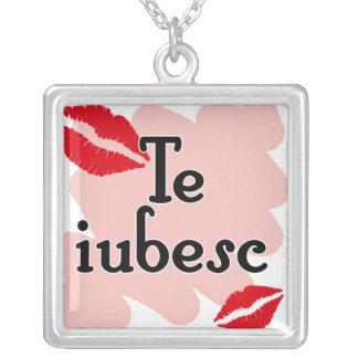 Te iubesc - Romanian I love you Pendant