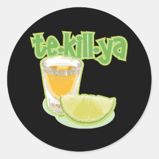 te-kill-ya round stickers