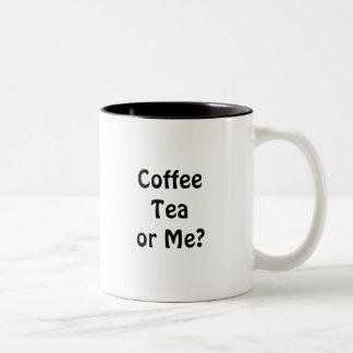 ¿Té o yo del café? Taza De Dos Tonos