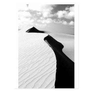 Te Paki giant sand dunes black and white landscape Postcard