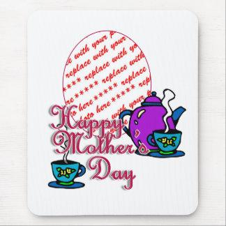 Té para dos - el día de madre feliz - marco de la  tapetes de raton