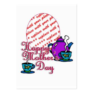 Té para dos - el día de madre feliz - marco de la tarjetas de visita grandes
