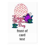 Té para dos - el día de madre feliz - marco de la  plantillas de tarjetas de visita