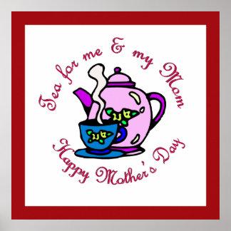 Té para mí y mi mamá - el día de madre feliz impresiones