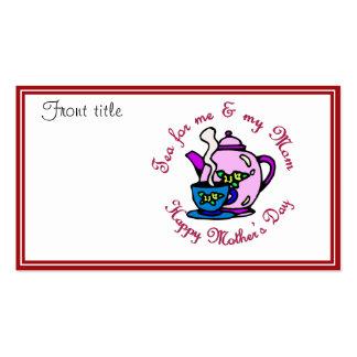 Té para mí y mi mamá - el día de madre feliz tarjetas de visita