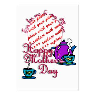 Té para mí y mi mamá - el día de madre feliz tarjetas de visita grandes