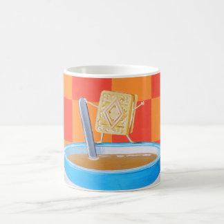 Té poner crema de las natillas taza de café