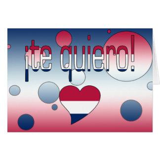 ¡Te Quiero! America Flag Colors Pop Art Card