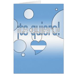 ¡Te Quiero! Argentina Flag Colors Pop Art Card