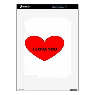 te quiero calcomanía para iPad 2