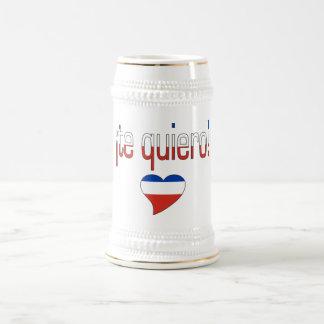 ¡Te Quiero! Chile Flag Colors Beer Stein