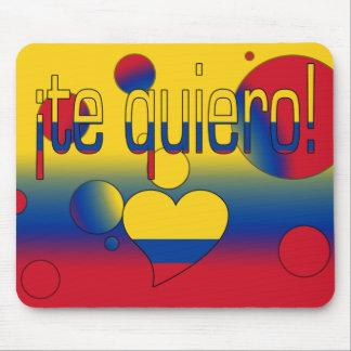 ¡Te Quiero! Colombia Flag Colors Pop Art Mouse Pad