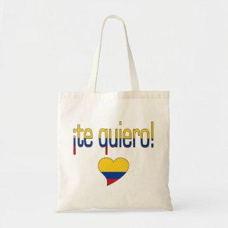 ¡Te Quiero! Colombia Flag Colors Tote Bag