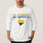 ¡¡Te Quiero! Colores de la bandera de Colombia Playera
