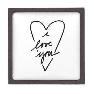 te quiero corazón cajas de recuerdo de calidad