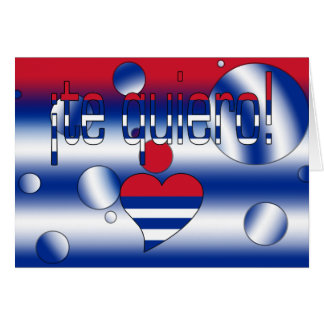 ¡Te Quiero! Cuba Flag Colors Pop Art Cards