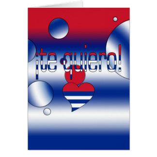 ¡Te Quiero! Cuba Flag Colors Pop Art Card