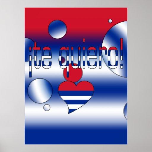 ¡Te Quiero! Cuba Flag Colors Pop Art Posters