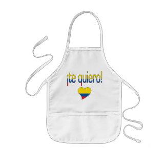 ¡Te Quiero! Ecuador Flag Colors Kids' Apron