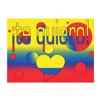¡Te Quiero! Ecuador Flag Colors Pop Art Canvas Print