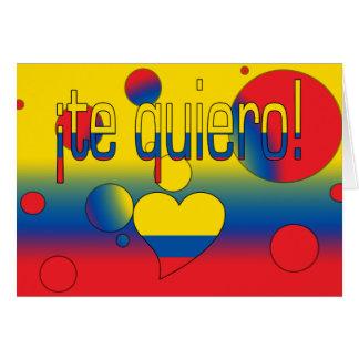 ¡Te Quiero! Ecuador Flag Colors Pop Art Card