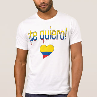 ¡Te Quiero! Ecuador Flag Colors Shirt