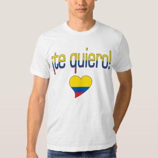 ¡Te Quiero! Ecuador Flag Colors T Shirt
