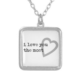 te quiero el corazón más lindo colgante cuadrado