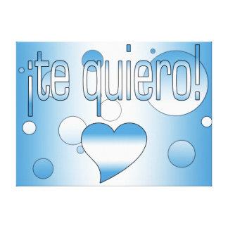 ¡Te Quiero! Guatemala Flag Colors Pop Art Canvas Print