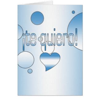 ¡Te Quiero! Guatemala Flag Colors Pop Art Card