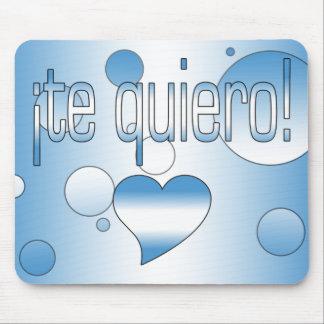 ¡Te Quiero! Guatemala Flag Colors Pop Art Mouse Pad
