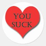 ¡te quiero - hago realmente! etiqueta redonda
