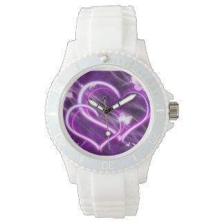 te quiero HeartsWatch púrpura Relojes