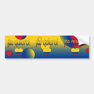 ¡¡Te Quiero! La bandera de Colombia colorea arte Pegatina Para Auto