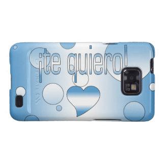 ¡¡Te Quiero! La bandera de Guatemala colorea arte Samsung Galaxy SII Carcasa