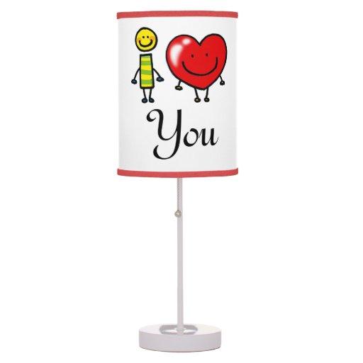 te quiero lámpara de mesa