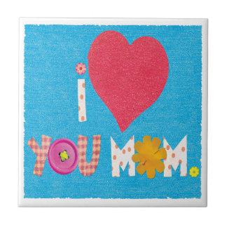 te quiero mamá azulejo cuadrado pequeño