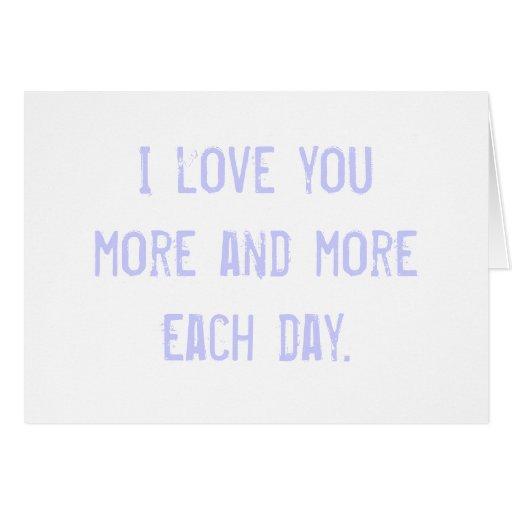 te quiero más… tarjeta de felicitación