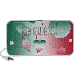 ¡Te Quiero! Mexico Flag Colors Pop Art Mp3 Speaker