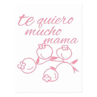 Te Quiero Mucho Mama Postcard