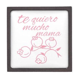 Te Quiero Mucho Mama Premium Keepsake Boxes