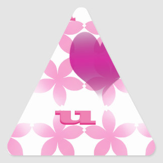 te quiero calcomania de triangulo