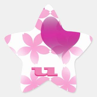 te quiero calcomanías forma de estrella personalizadas