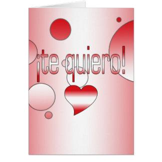¡Te Quiero! Peru Flag Colors Pop Art Card