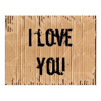te quiero postales