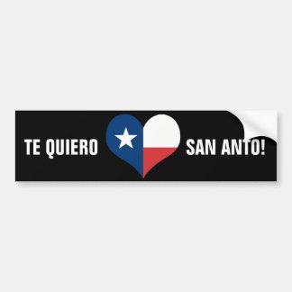 ¡Te Quiero San Anto! Pegatina De Parachoque