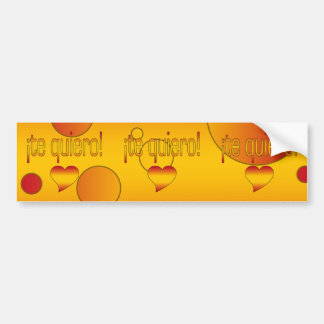 ¡Te Quiero! Spain Flag Colors Pop Art Bumper Sticker
